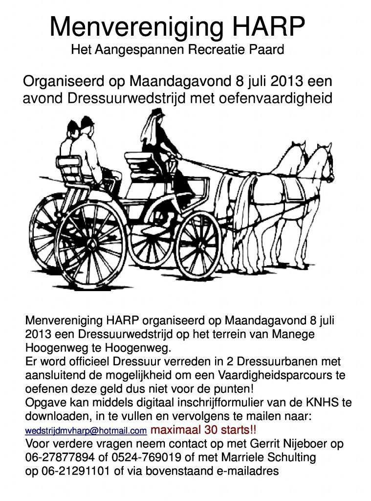 Flyer avondwedstrijd 2013