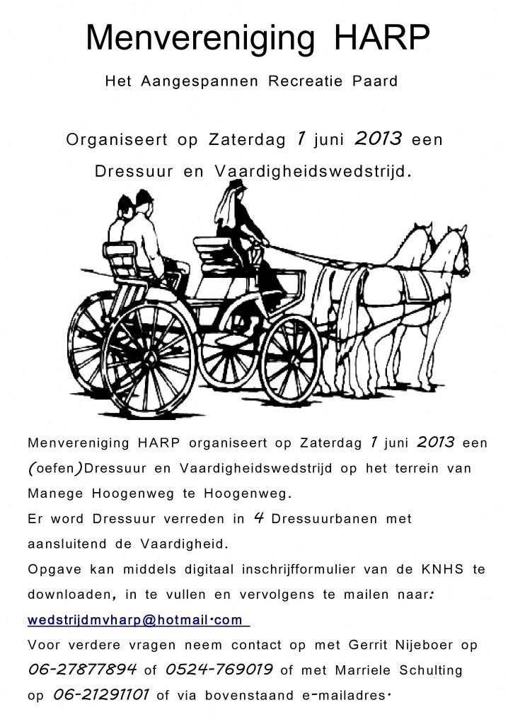 Flyer wedstrijd 2013